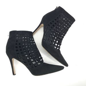 Aldo Suede Perforated Black Booties
